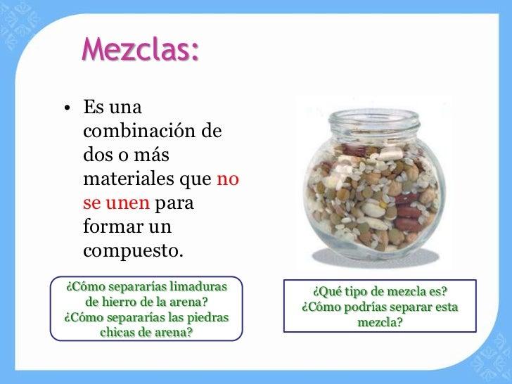 Metodos de separacion de mezclas for Que tipo de mezcla es el marmol