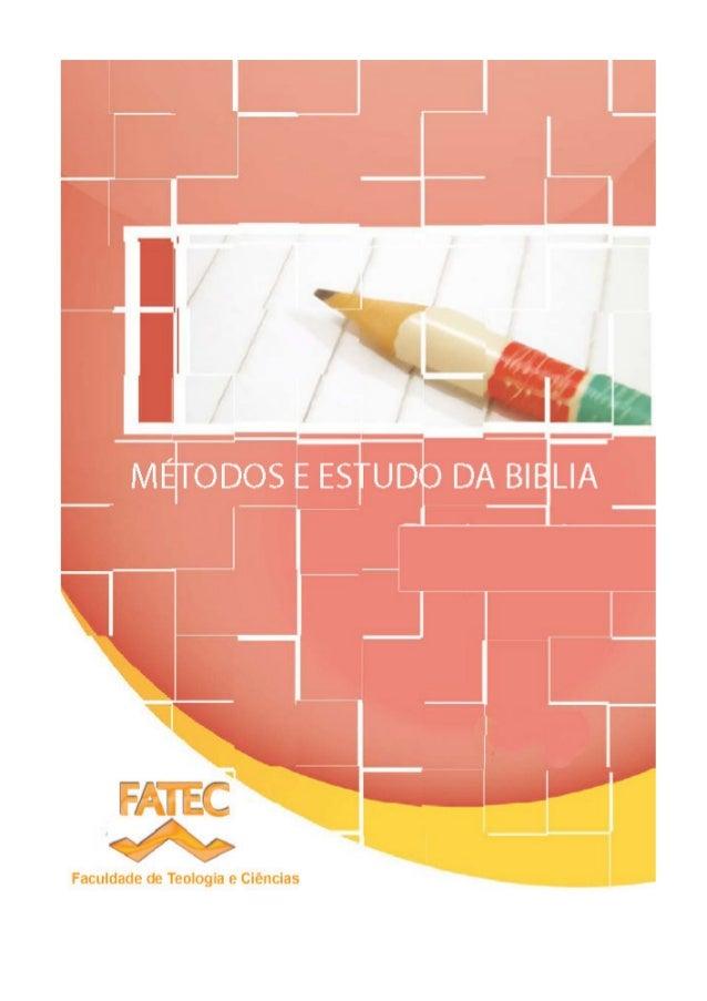 FATEC – Faculdade de Teologia e Ciências 2 Índice ________________________________________________________________________...