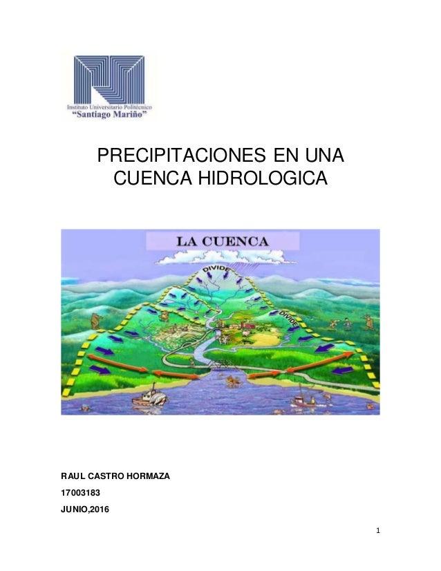 Metodos para el calculo de precipitaciones