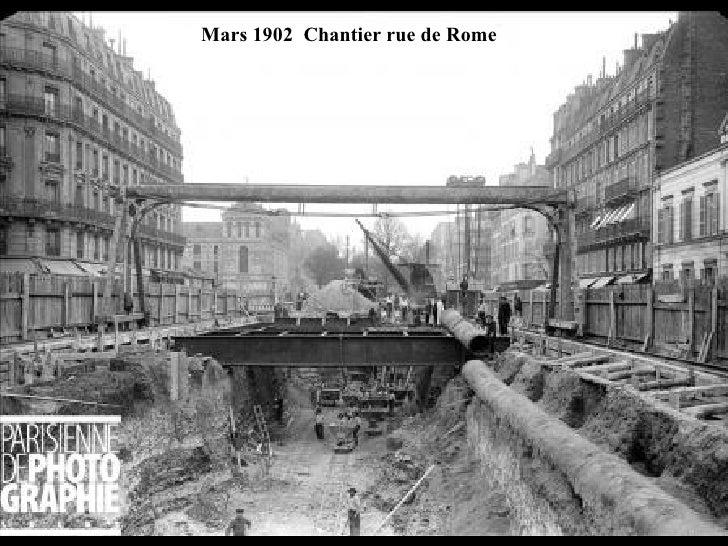 Mars 1902  Chantier rue de Rome