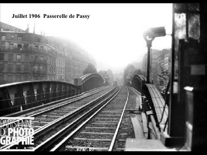 Juillet 1906  Passerelle de Passy