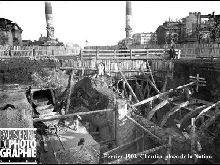 Février 1902  Chantier place de la Nation