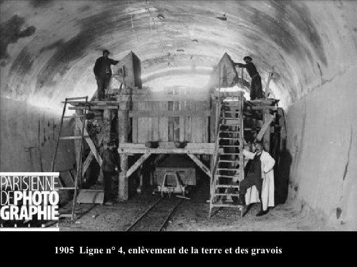 1905  Ligne n° 4, enlèvement de la terre et des gravois