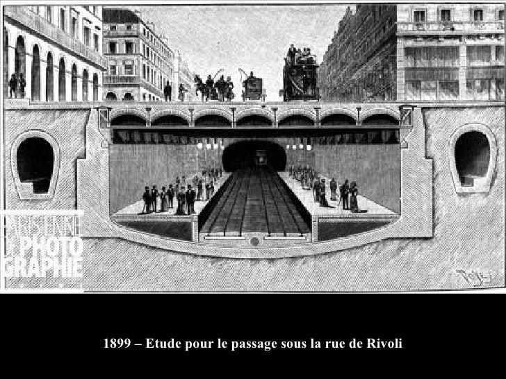 1899 – Etude pour le passage sous la rue de Rivoli