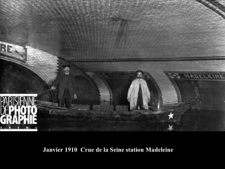 Janvier 1910  Crue de la Seine station Madeleine
