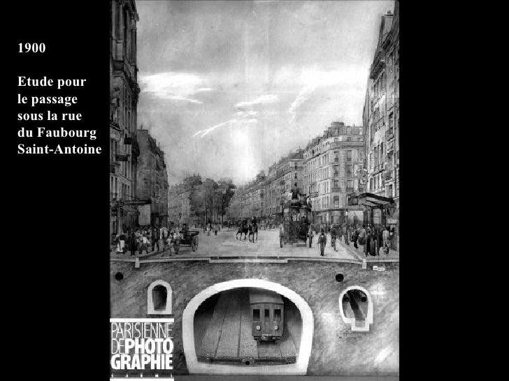 1900 Etude pour le passage sous la rue du Faubourg Saint-Antoine