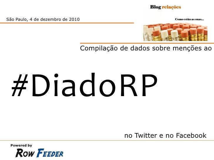 São Paulo, 20 de dezembro de 2010                               Compilação de dados sobre menções ao  #DiadoRP            ...