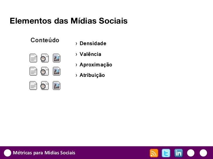Elementos das Mídias Sociais       Conteúdo            › Densidade                           › Valência                   ...