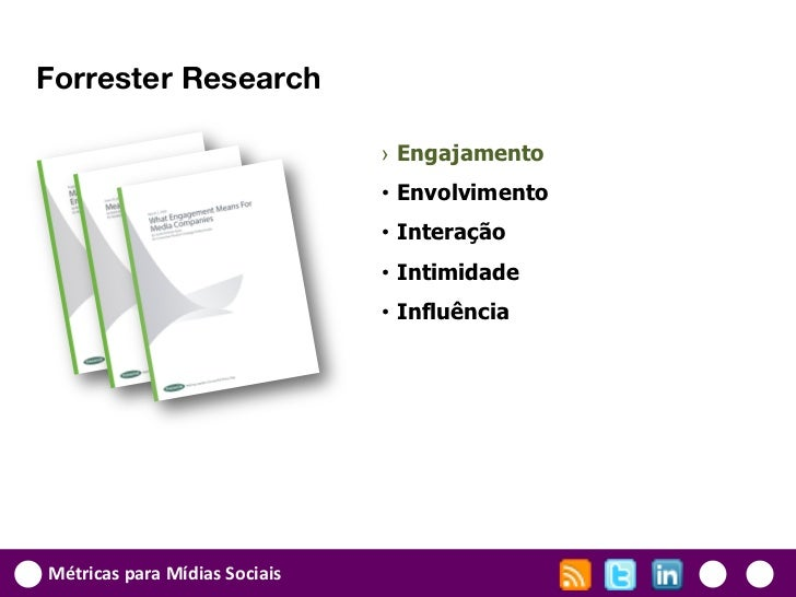 Forrester Research                               › Engajamento                               • Envolvimento               ...