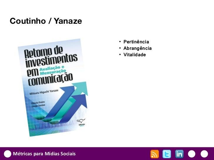 Coutinho / Yanaze                               • Pertinência                               • Abrangência                 ...