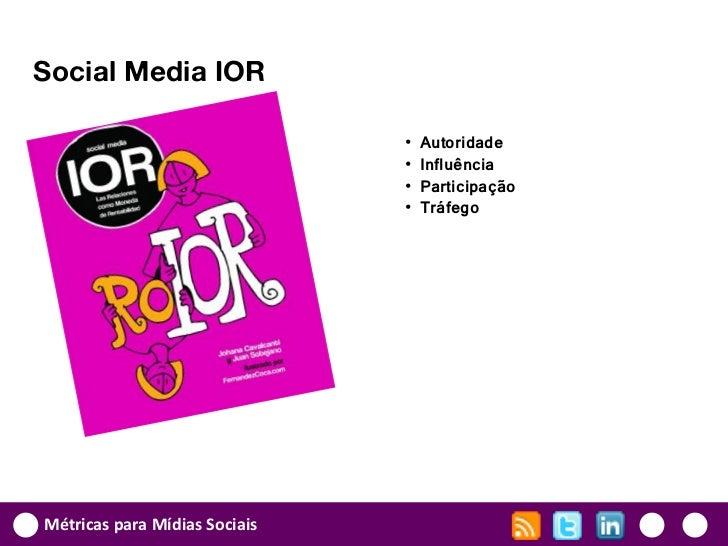 Social Media IOR                               •   Autoridade                               •   Influência                ...
