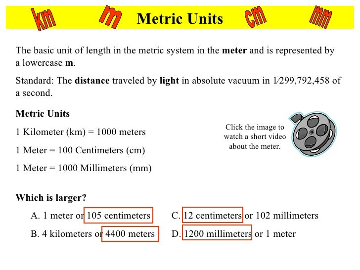 Metric Length Mass and Volume