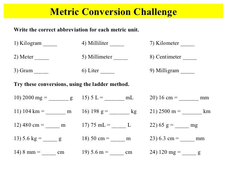 Printables Metric Mania Worksheet metric mania conversion challengewrite