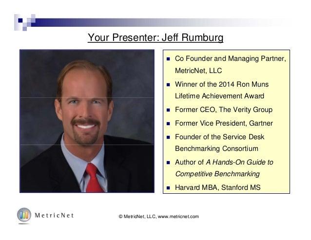 Your Presenter: Jeff Rumburg © MetricNet, LLC, www.metricnet.com© MetricNet, LLC, www.metricnet.com  Co Founder and Manag...