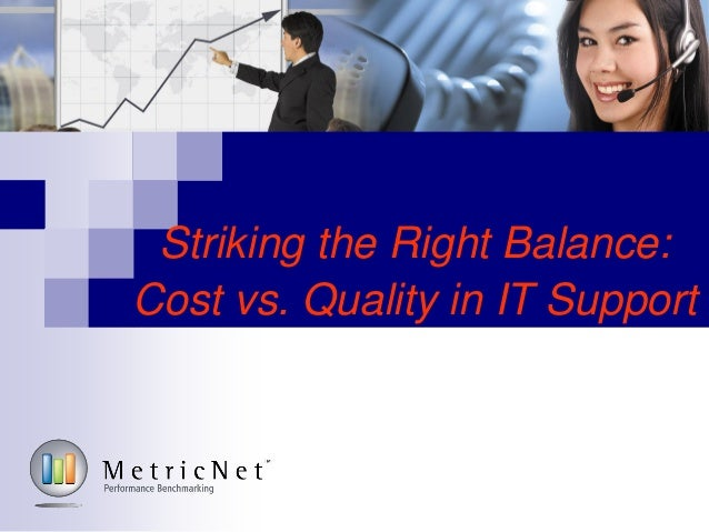 Striking the Right Balance:Cost vs. Quality in IT Support