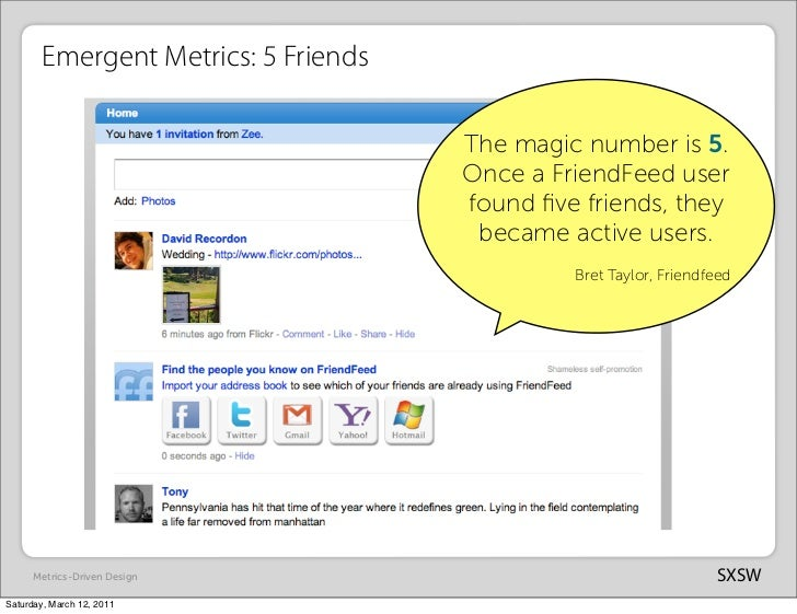 Emergent Metrics: 5 Friends                                      The magic number is 5.                                   ...