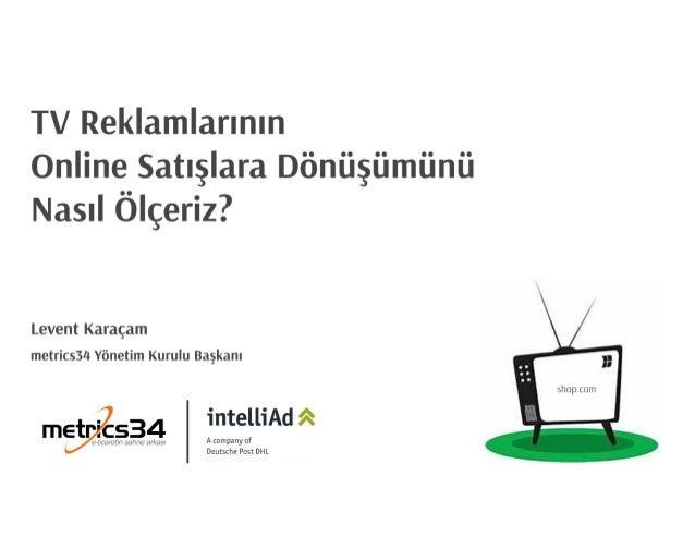 TV Reklamlarının Online Satışlara Dönüşümünü Nasıl Ölçeriz?  Levent Karaçam metrics34 Yönetim Kurulu Başkanı  întellîAd â ...