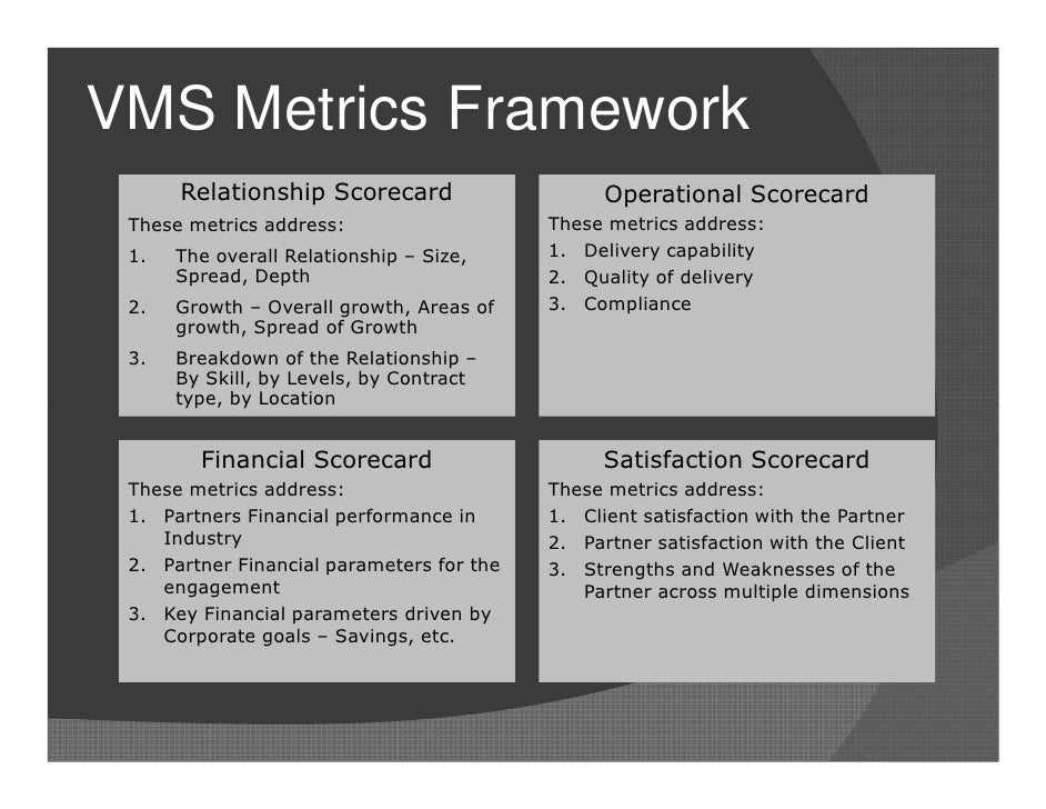 Metrics For Vendor Management V4