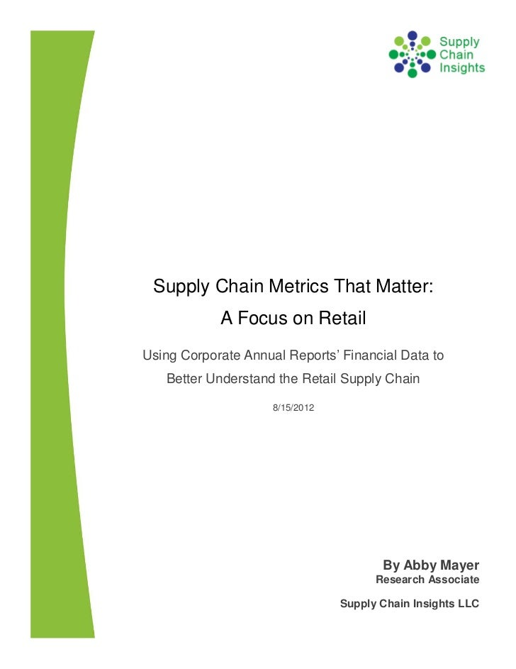 Supply Chain Metrics That Matter: A Focus on Retail