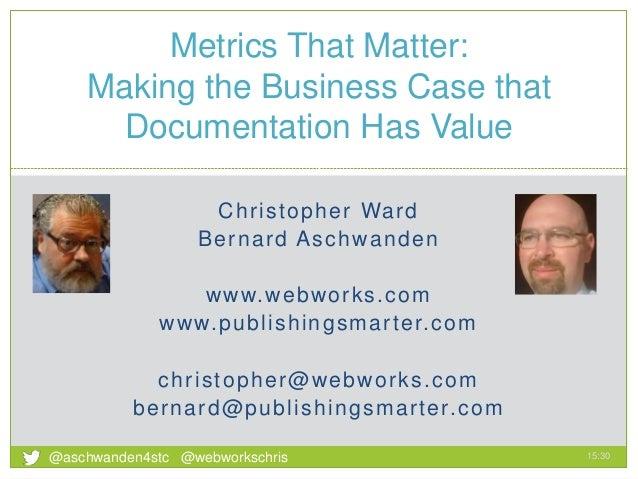 Christopher Ward Bernard Aschwanden www.webworks.com www.publishingsmarter.com christopher@webworks.com bernard@publishing...