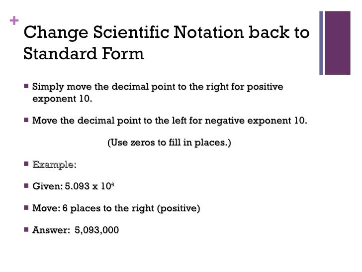 Convert Scientific Notation To Standard Form Bruceianwilliams