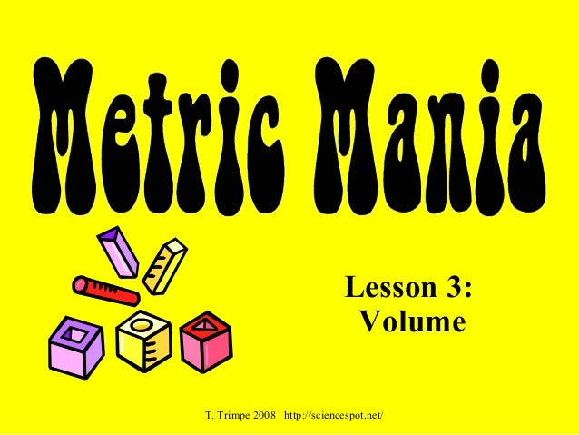 Metric Mania Volume – Metric Mania Worksheet