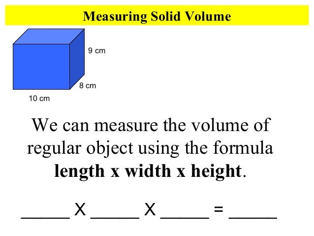 measuring volume worksheets