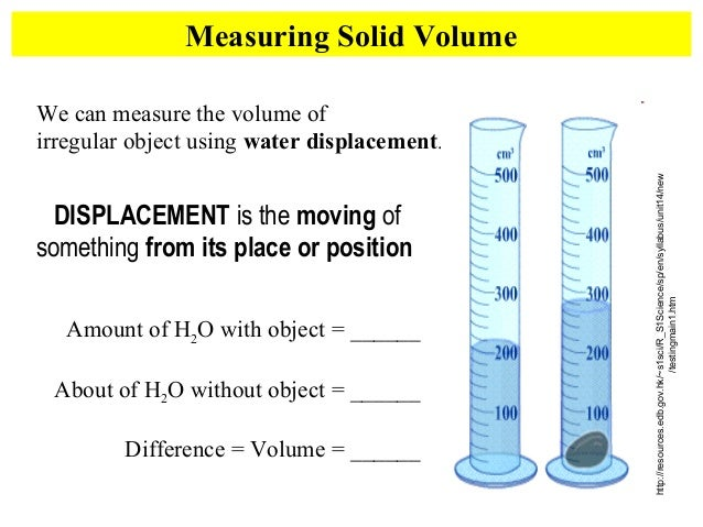 how to find volume of water