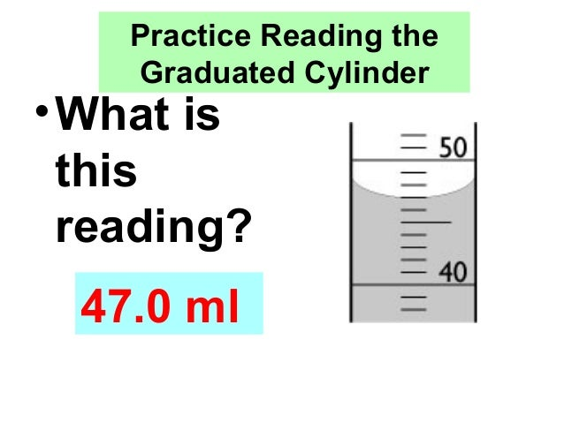 Metric Mania Volume – Reading a Graduated Cylinder Worksheet