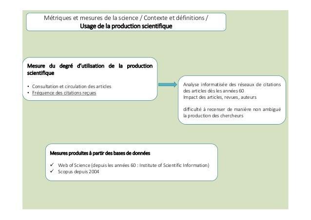 Analyse informatisée des réseaux de citations des articles dès les années 60 Impact des articles, revues, auteurs difficul...