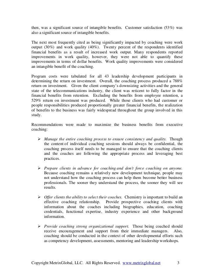 Metrix global coaching roi briefing Slide 3