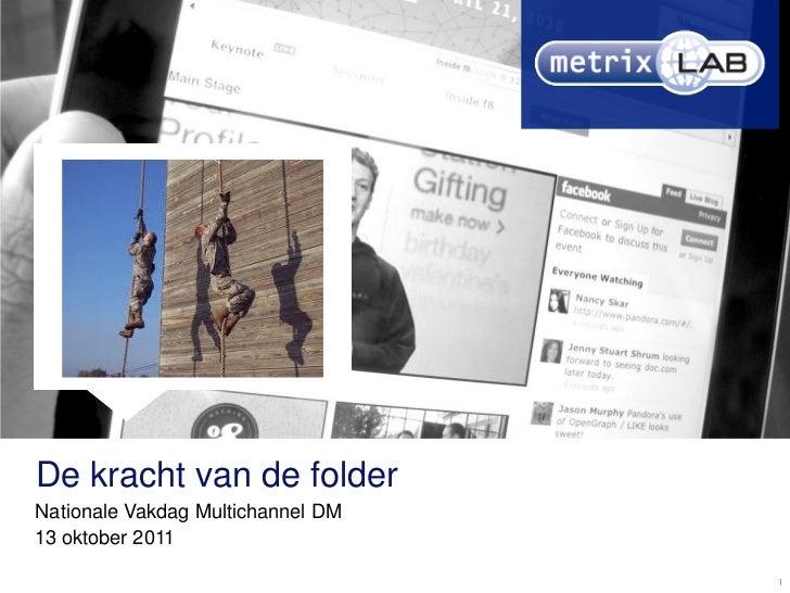 De kracht van de folderNationale Vakdag Multichannel DM13 oktober 2011                                   1