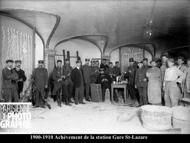 1900-1910 Achèvement de la station Gare St-Lazare