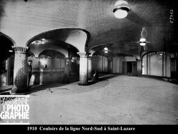 1910  Couloirs de la ligne Nord-Sud à Saint-Lazare