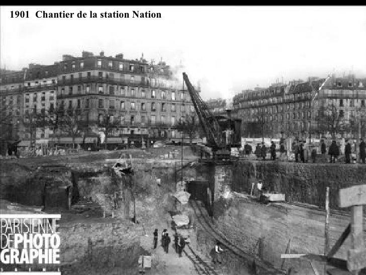 1901  Chantier de la station Nation