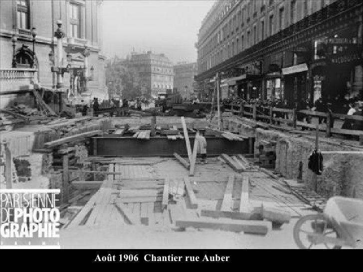 Août 1906  Chantier rue Auber