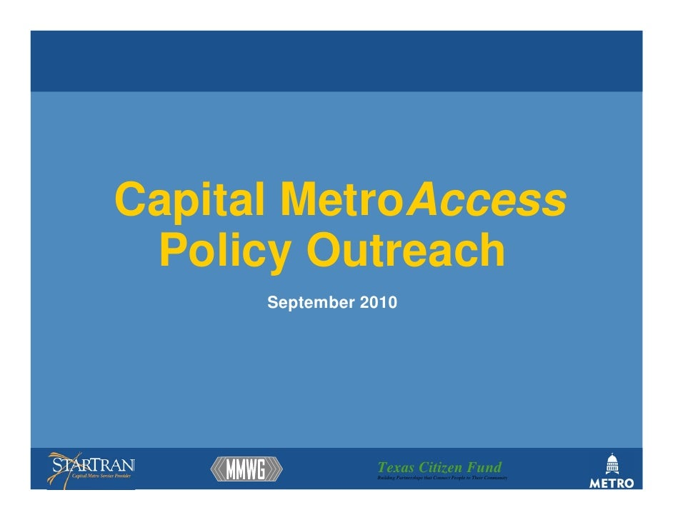 Metro access policy_recommendations