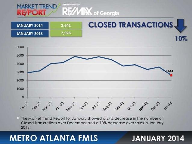 Metro ATL Market Trend Report January 2014 Slide 3