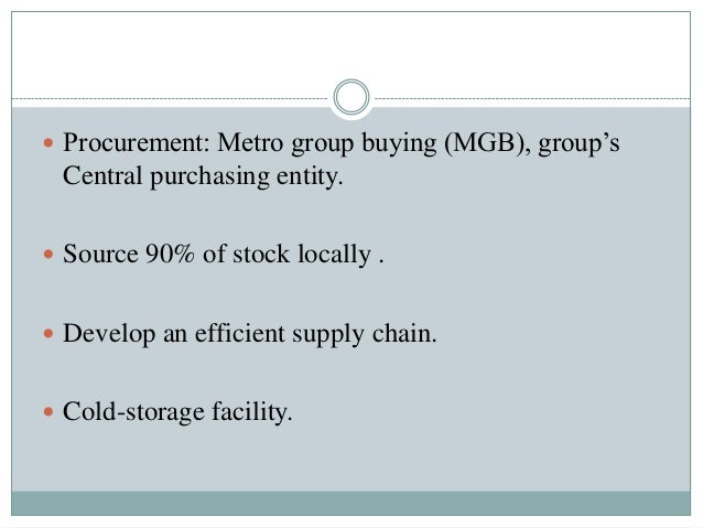 metro cash carry case study Metro cash & carry interview details: 40 interview questions and 37 interview  reviews posted  case analysis regarding assortment plan answer question.