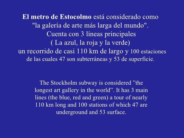 Metro de estocolmo - Metro de estocolmo ...