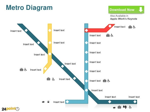Metro diagrams editable powerpoint presentation download toneelgroepblik Images