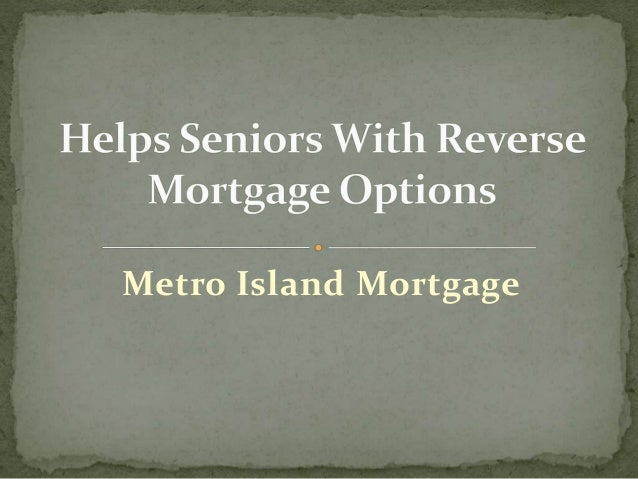 Best mortgage options for seniors