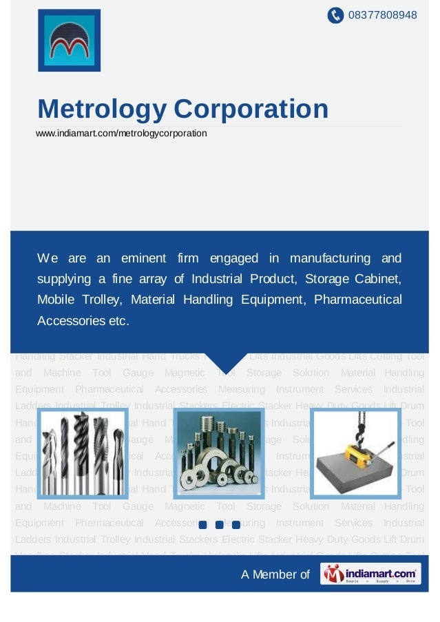 08377808948      Metrology Corporation      www.indiamart.com/metrologycorporationCutting Tool and Machine Tool Gauge Magn...