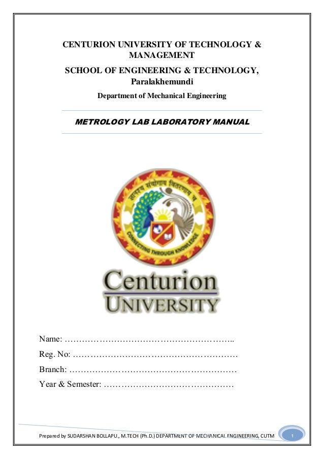 Prepared by SUDARSHAN BOLLAPU., M.TECH (Ph.D.) DEPARTMENT OF MECHANICAL ENGINEERING, CUTM 1 CENTURION UNIVERSITY OF TECHNO...