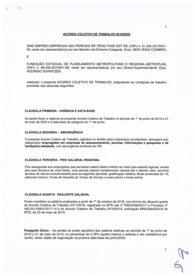 Acordo Coletivo Metroplan