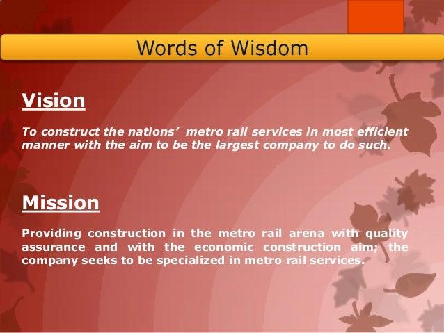Metro project Slide 2