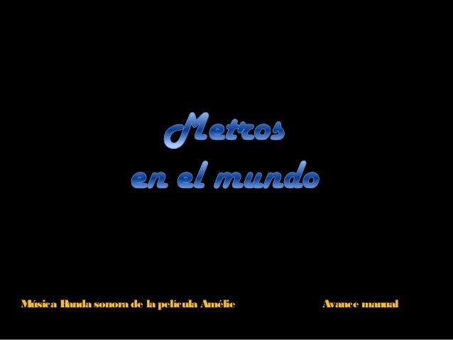 Música Banda sonora de la película Amélie Avance manual