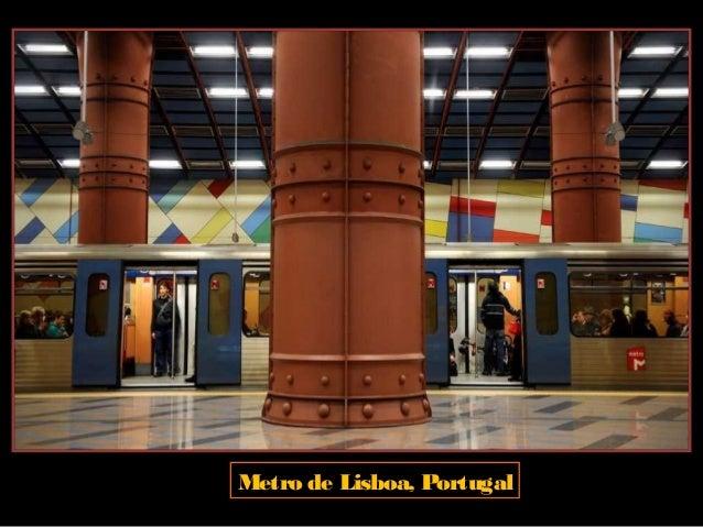 Metro de Estocolmo, Suecia. Porel precio de un billete de Metro, los viajeros pueden hacerun recorrido artístico de escult...