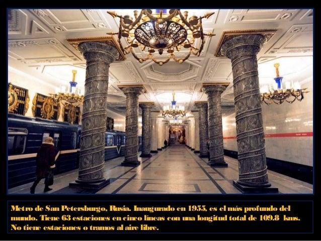 El Metro de Paris ocupa el segundo lugaren el mundo porla antigüedad. La construcción del primersistema de Metro fue termi...