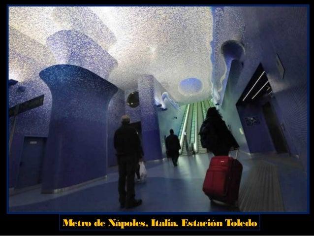 Metro de Nápoles, Italia. Estación Materdei